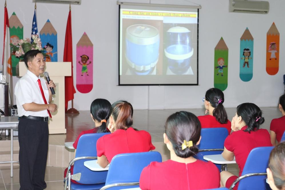 Tập huấn an toàn thực phẩm, vệ sinh học đường