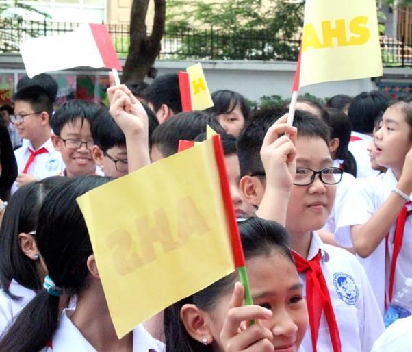 Ấn tượng ngày khai trường của học sinh Trường Quốc tế Á Châu